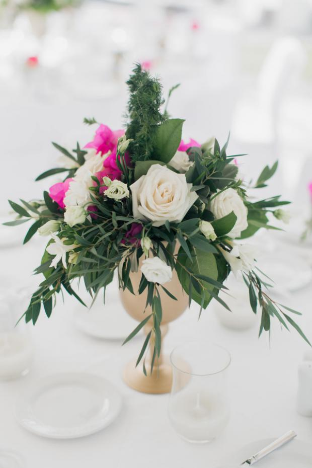 Centrepiece- Grecian wedding