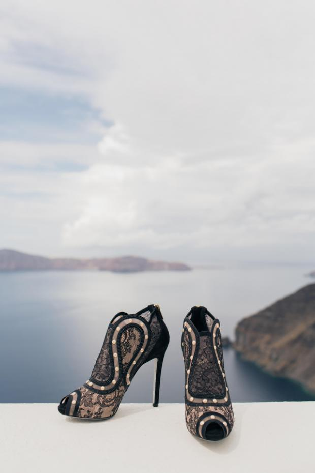 Wedding shoes- Santorini wedding