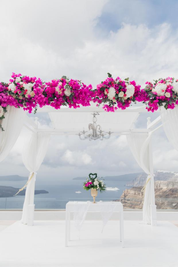 Wedding ceremony decor- Santorini Gem