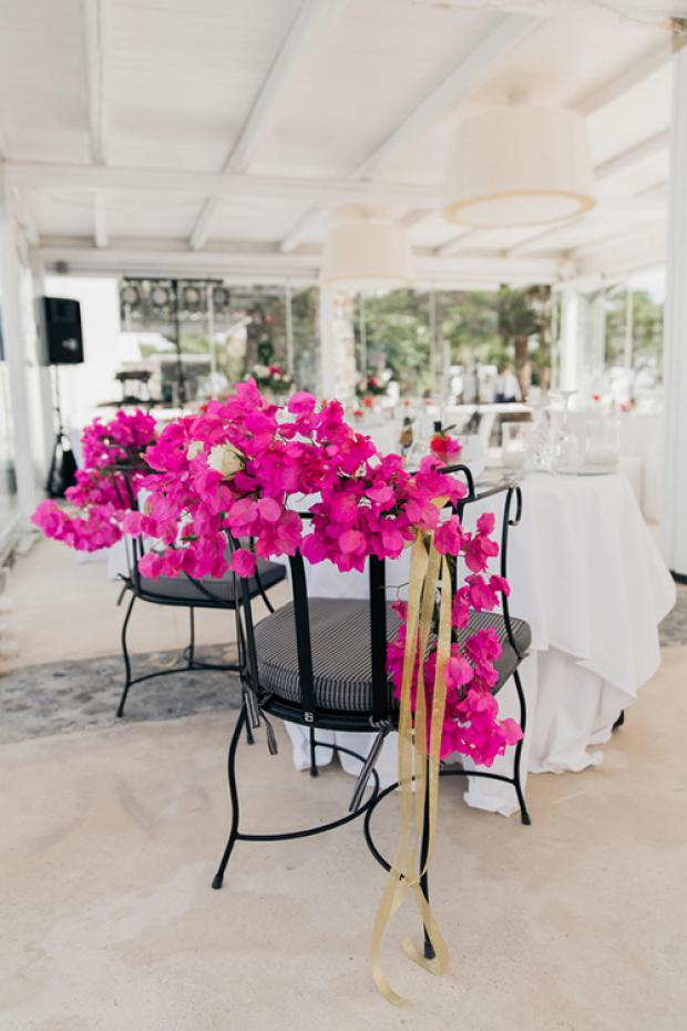 Wedding chairs- bougainvillea