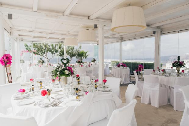 Wedding reception at Santorini Gem
