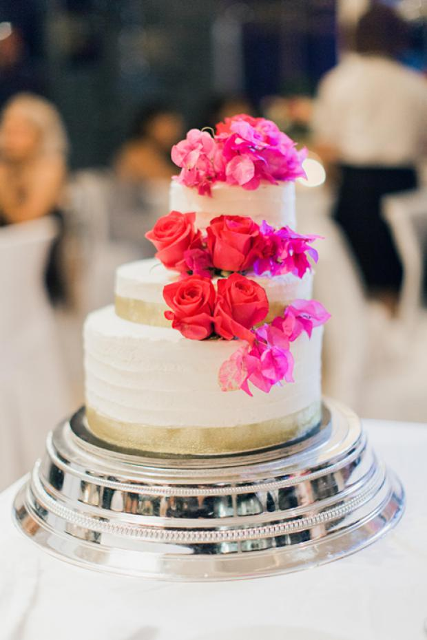 Unbalanced wedding cake