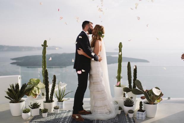 Bohemian cactus wedding in Greece