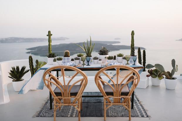 Modern cacti wedding- romantic dinner