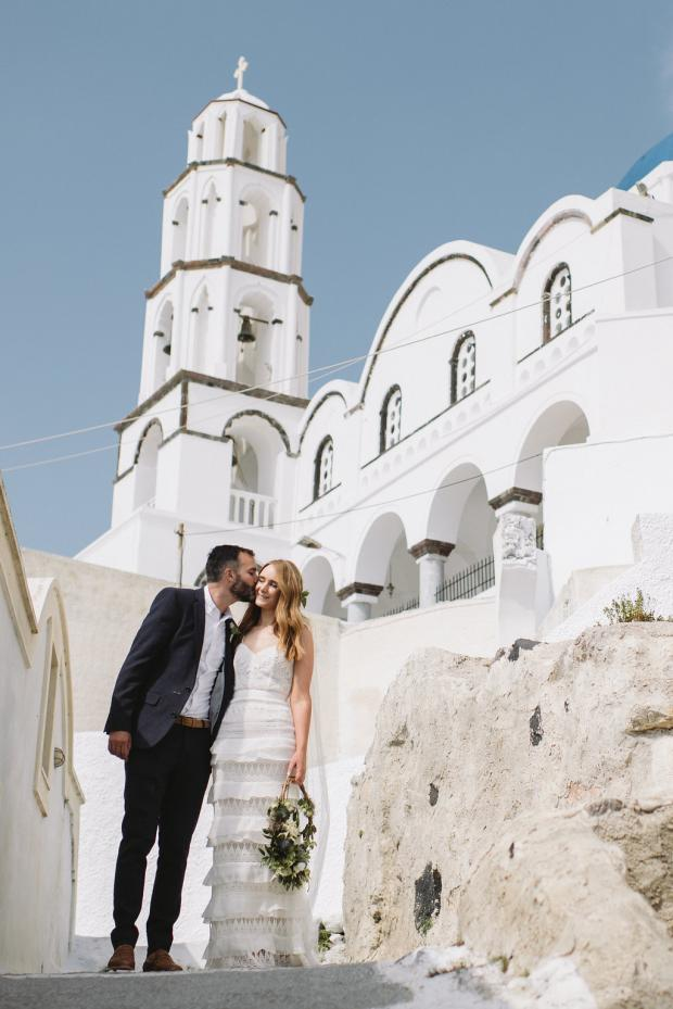 Wedding in Greece- Metropolis church Fira