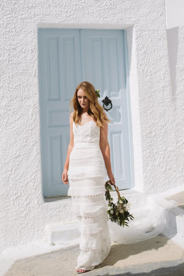 Bohemian & modern bride