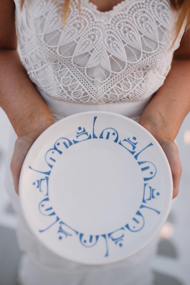 Santorini wedding favor