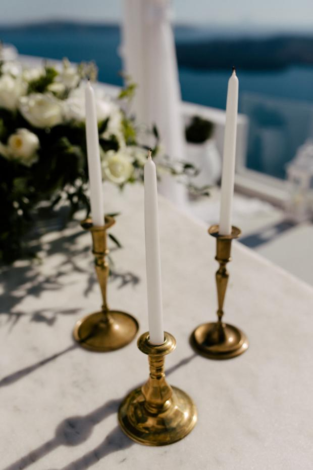 copper candlesticks