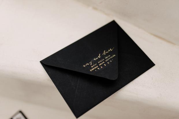 Wedding stationery-black