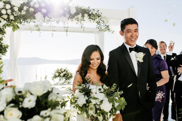 Classy destination wedding in Greece