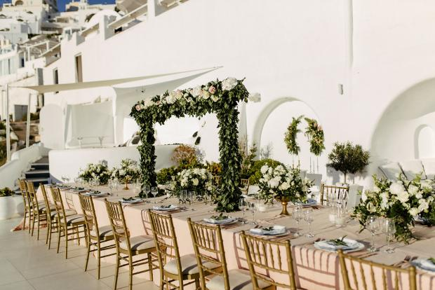 Wedding dinner design -tablescape
