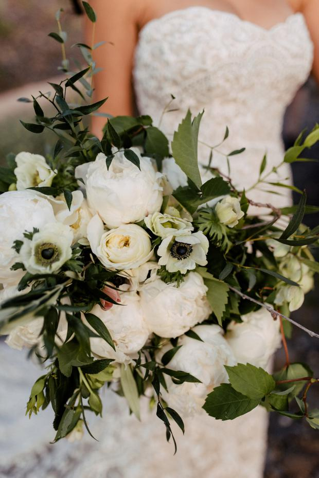 Peonies and anemones bouquet