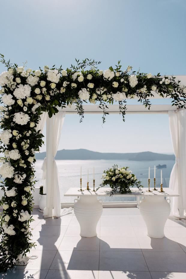 Wedding altar decoration - Wedding in Greece