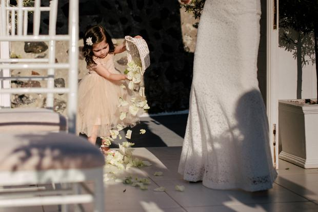 Flower girl- wedding in Greece