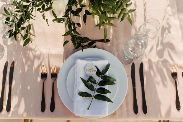 Table setting - Wedding in Greece