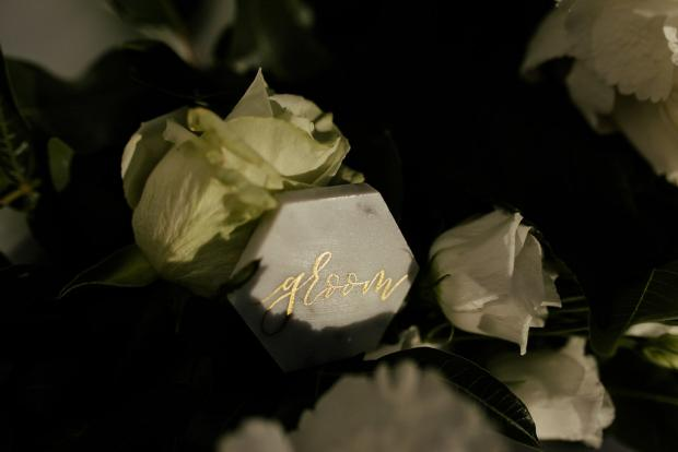 Marble place card - Wedding