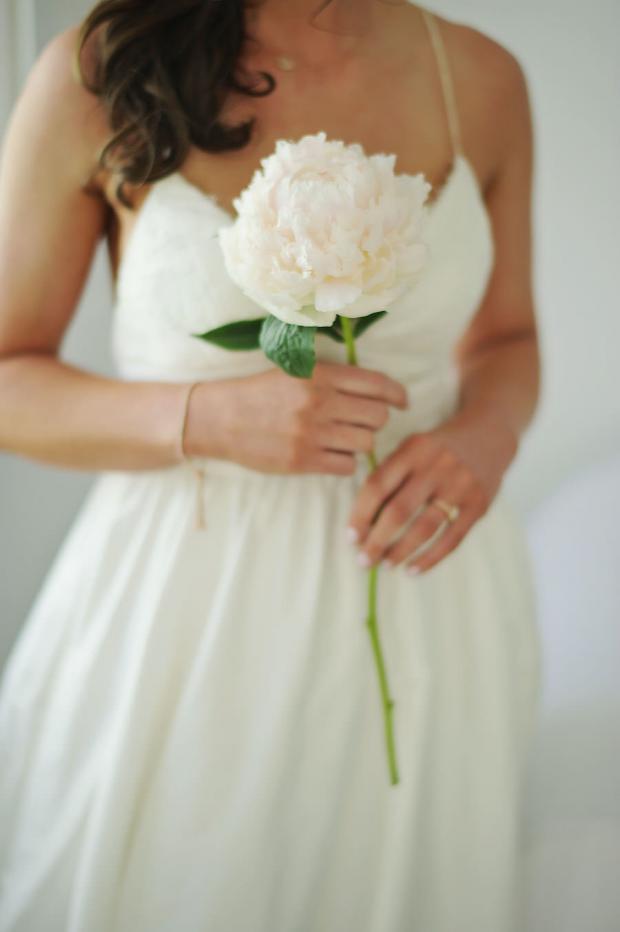 Bridal bouquet single peony