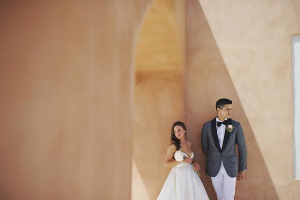 Stylish destination wedding in Greece