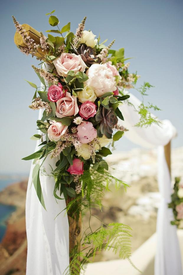 Wedding arch with peonies