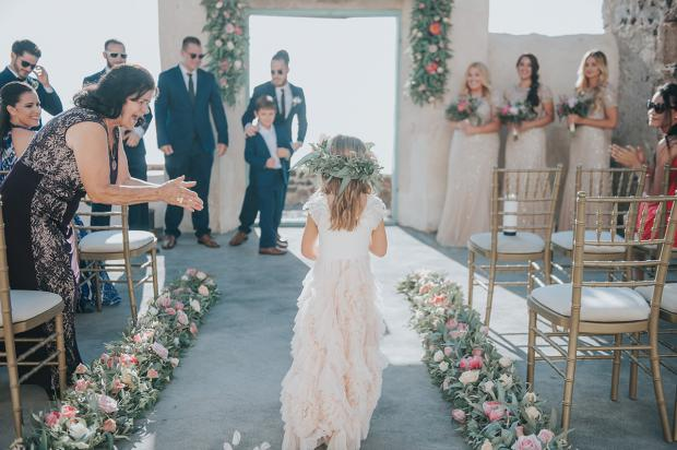 Flower girl -wedding in Greece