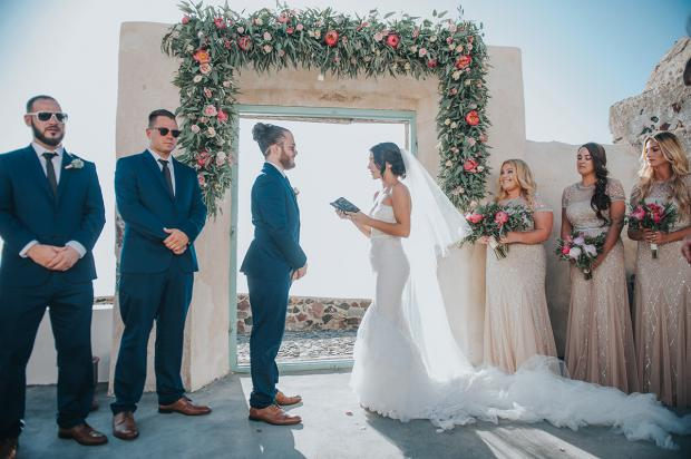 Santorini wedding - Remezzo Villas
