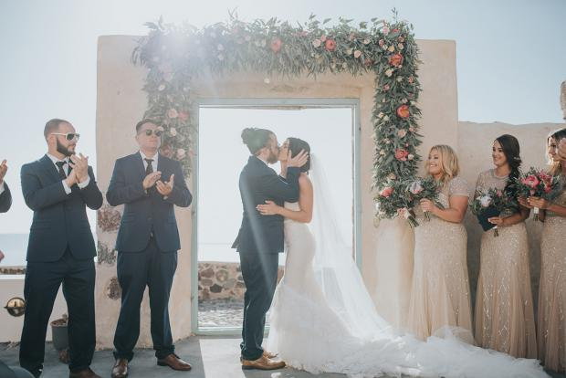 Wedding ceremony- Santorini wedding