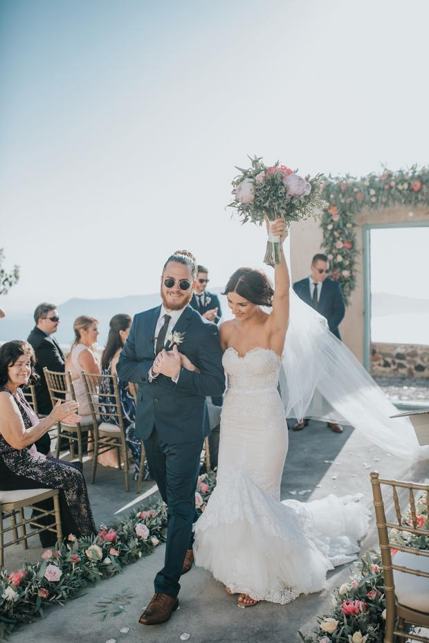 Wedding ceremony-bride and groom