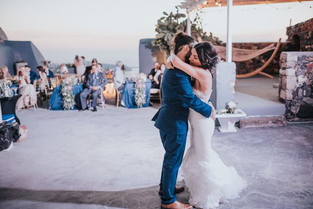 First Dance- Santorini wedding