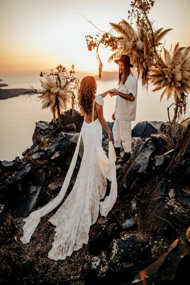 Adventurous elopement in Greece- Daughters of Simone Dress