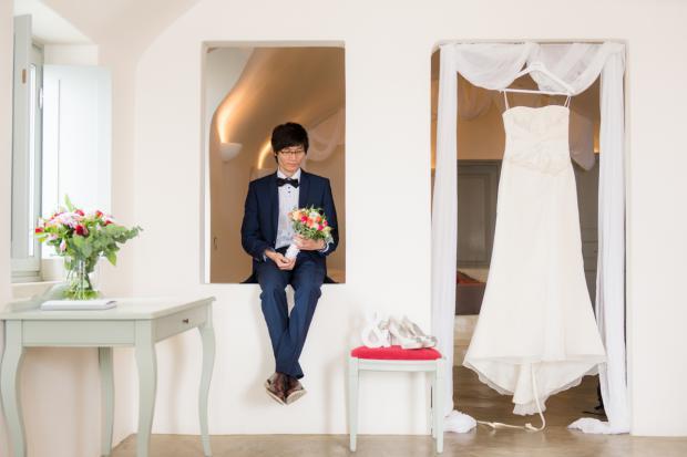 Santorini wedding- wedding preparations