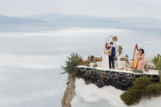 Wedding in Santorini- Andronis wedding terrace