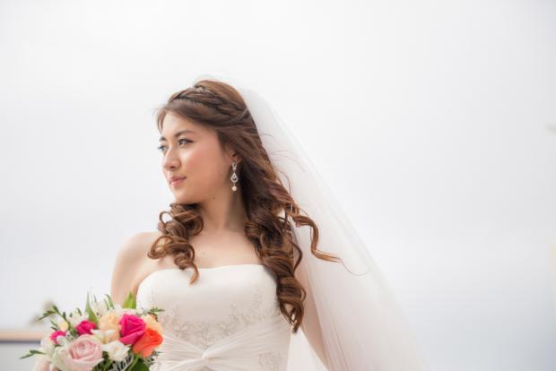 Wedding in Santorini-santorini bride