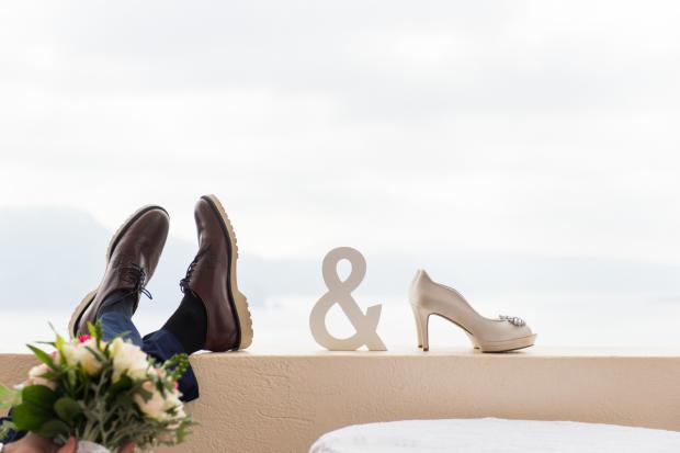 Santorini wedding-wedding shoes