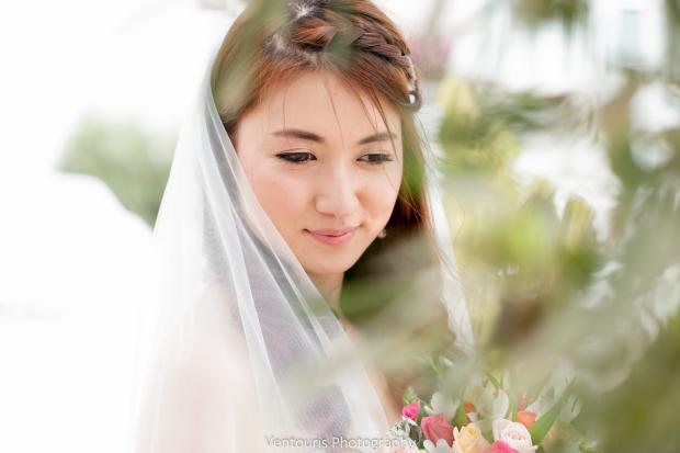 Santorini wedding-bride