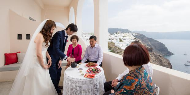 Santorini wedding- Chinese wedding tradition