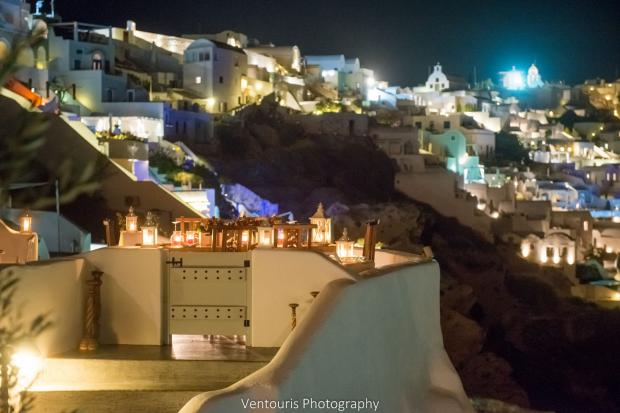 Santorini wedding-romantic dinner