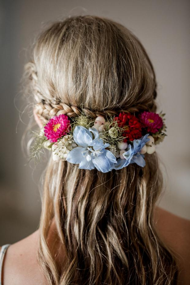 Half crown-bridal hairstyle