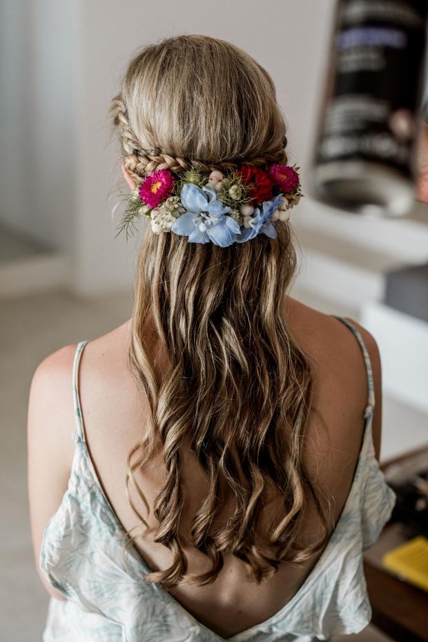 Half crown-bridal hairstyle