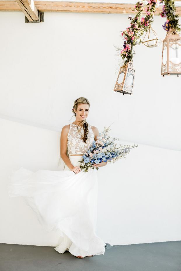 Delphinium long bridal bouquet