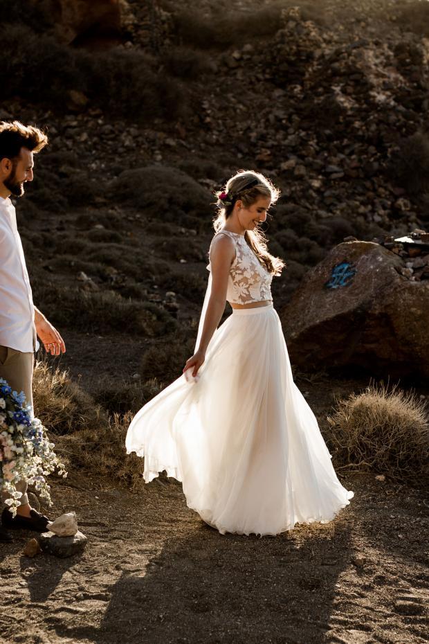 Adventurous Greece elopement