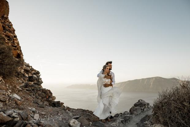 Adventurous Greece elopement