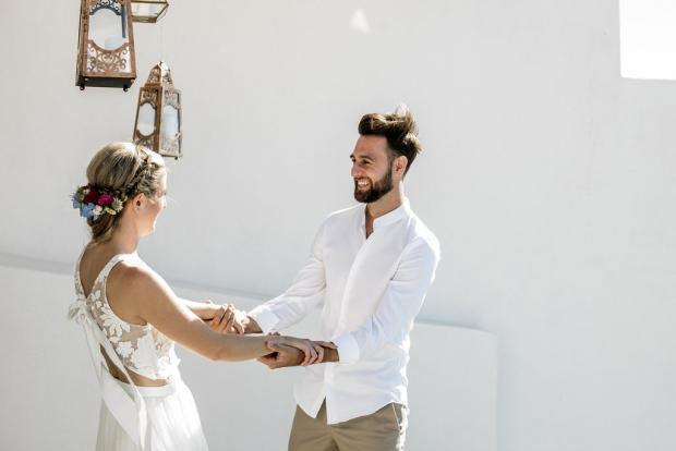 First look - elopement in Greece