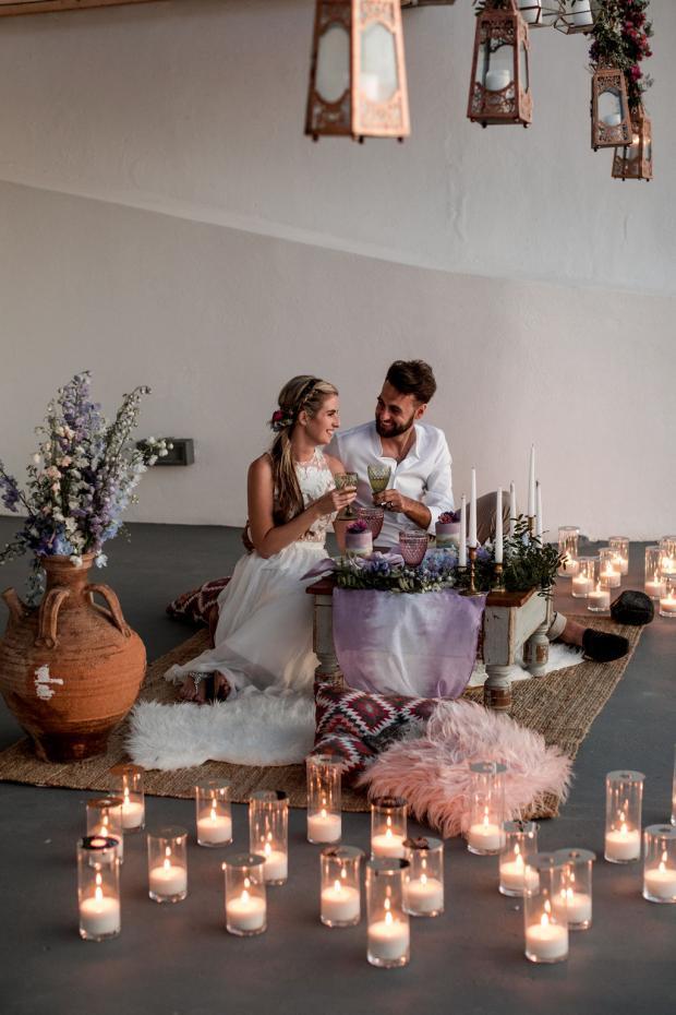 Boho wedding styled by Tie the knot Santorini