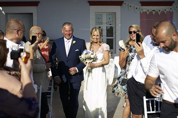 Wedding moments- walking down the aisle