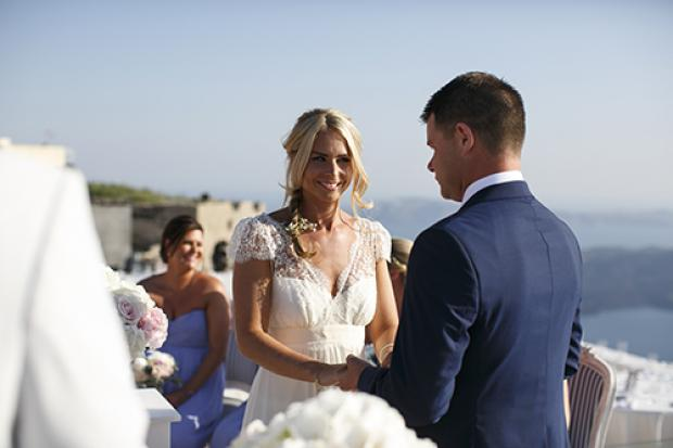 Wedding moments- Santorini wedding