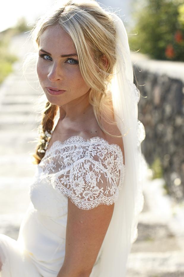 Boho bridal hairstyle