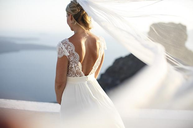 Boho wedding gown- Santorini