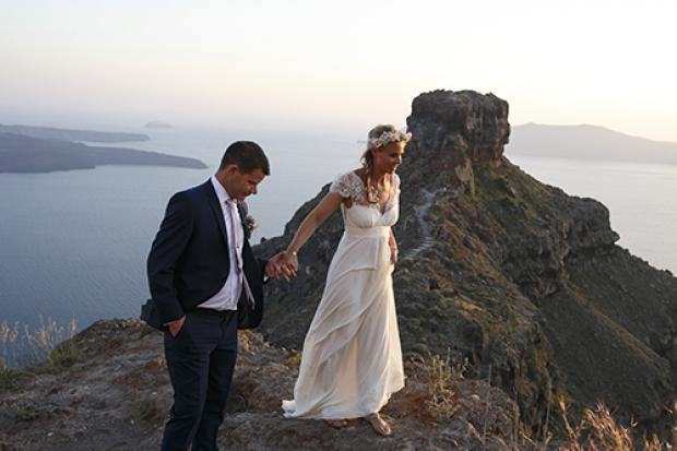 Greek island wedding