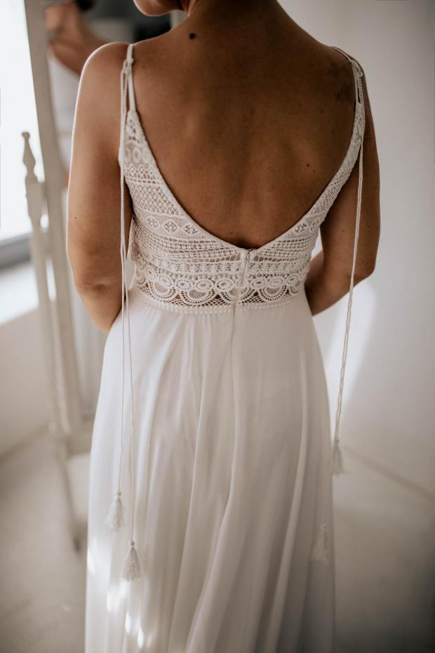 bridal preparations - wedding dress