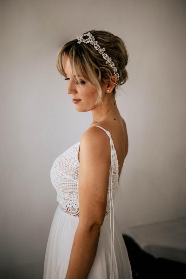 bridal preparations - headpiece